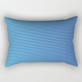 Eyes-challenging Lines (Royal/Pool) Rectangular Pillow
