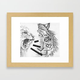 Fuck! I love you so fucking much! Framed Art Print