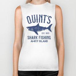 Quint's Shark Fishing - Amity Island Biker Tank