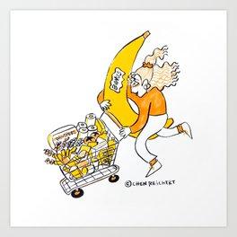 Supermarket Sweep Art Print