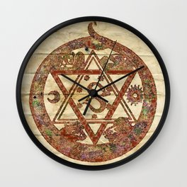 Sacred and Ancient Symbolism by PB Wall Clock