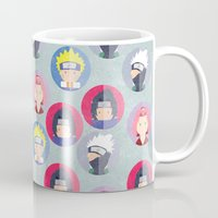 naruto Mugs featuring Naruto icons by Maha Akl
