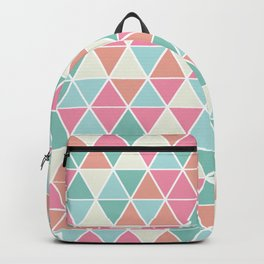 Triangulation (pink and green) Backpack