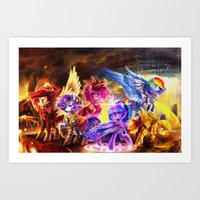 mlp Art Prints featuring MLP my little pony by AquaGalaxy
