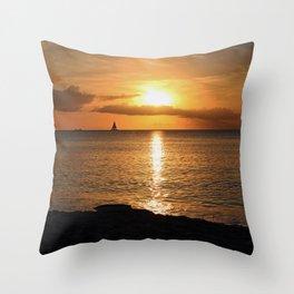 Seduced by the Sun Throw Pillow