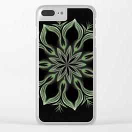 Alien Mandala Swirl Clear iPhone Case