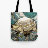 turtle Tote Bags featuring Turtle by Yuliya