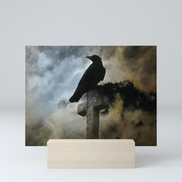 Stormy Clouds And Crow Mini Art Print