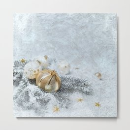 Silver gold ornaments Metal Print