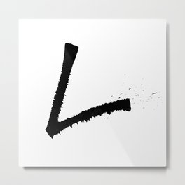 Letter L Ink Monogram Metal Print
