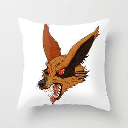 Roaring Kurama Throw Pillow