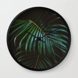 Leaves In The Dark Wall Clock