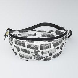 Cameras Black & White Fanny Pack