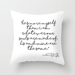 More myself than I am - Bronte quote Throw Pillow