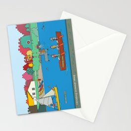 Canoeing Summer Camp Stationery Cards