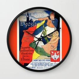 Antwerp art expo 1895 Wall Clock