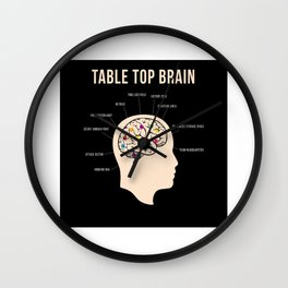Table Top Brain Board Game Nerd Wall Clock