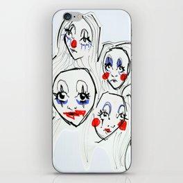 clown girlz iPhone Skin
