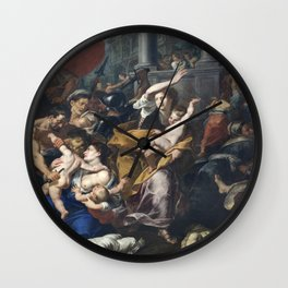 Milan - paint of Massacre of the Innocents from San Eustorgio church Wall Clock