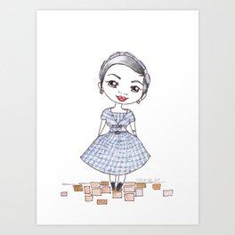 Vintage Gal ~ Nora Finds Art Print