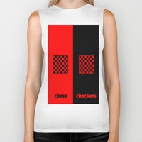 chess Biker Tanks featuring Chess & Checkers by hensleyandchristensen