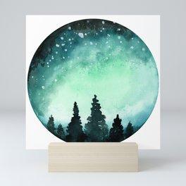 Watercolor Galaxy Mini Art Print