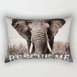 Elephant Rescue Rectangular Pillow