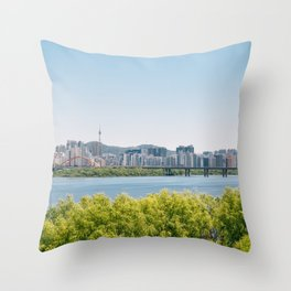 Seoul city Throw Pillow