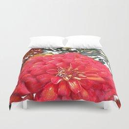 Garden Blooms - Red Duvet Cover