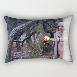 no canary at night Rectangular Pillow