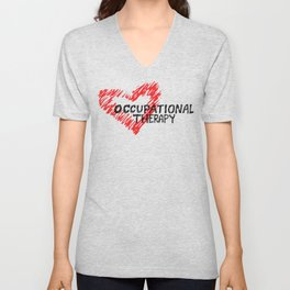 Occupational Therapy Love Unisex V-Neck