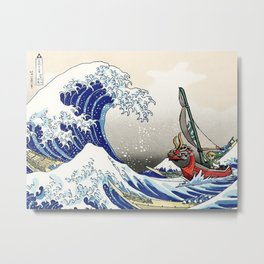 Legend of Zelda Great Wave Windwaker Metal Print