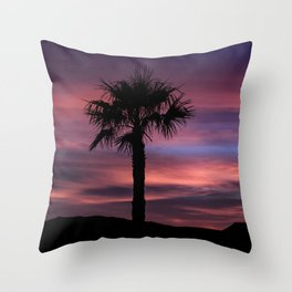 Palm Sunset - 8 Throw Pillow
