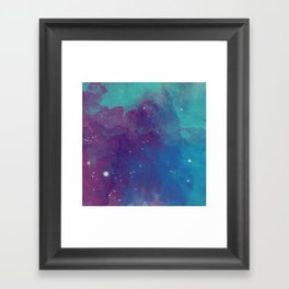 Watercolor night sky Framed Art Print