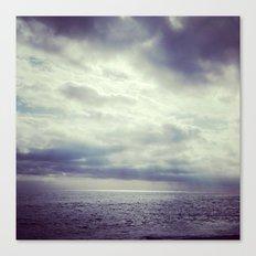 Sea in winter Canvas Print