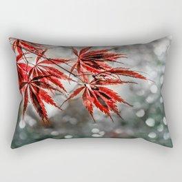 Japanese Red Maple Leaves Rectangular Pillow