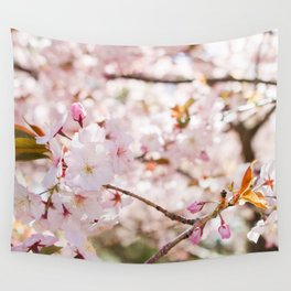 Cherry Blossoms in Full Bloom Wall Tapestry