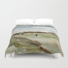1882-Vincent van Gogh-Bleaching Ground at Scheveningen-32x54 Duvet Cover