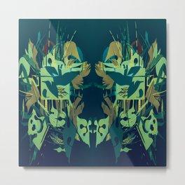 Garden Heart- Abstract Fantasy Mixed Media Metal Print
