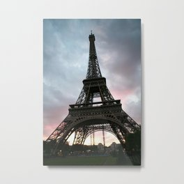 Cotton Candy Sky Eiffel Metal Print