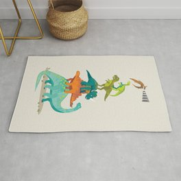 Dinosaur mountain Rug