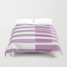 Big Stripes in Purple Duvet Cover