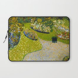 Garden in Auvers by Vincent Van Gogh - Vintage Painting Laptop Sleeve