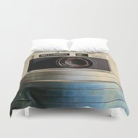 aperture Duvet Covers featuring Old Camera by ThePhotoGuyDarren