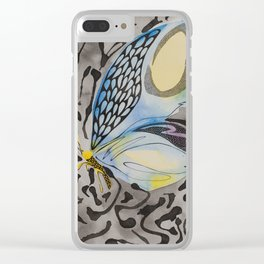 Notice me in Blue 3 Clear iPhone Case