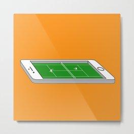 Tennis on an iPhone Metal Print