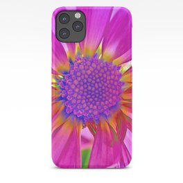 Neon Pink Daisy iPhone Case