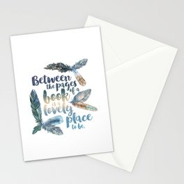 Between the Pages - Feathery White Stationery Cards