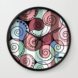 Abstract pattern of a Spiral . Wall Clock