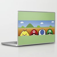 mario bros Laptop & iPad Skins featuring Mario Bros by Bazingfy